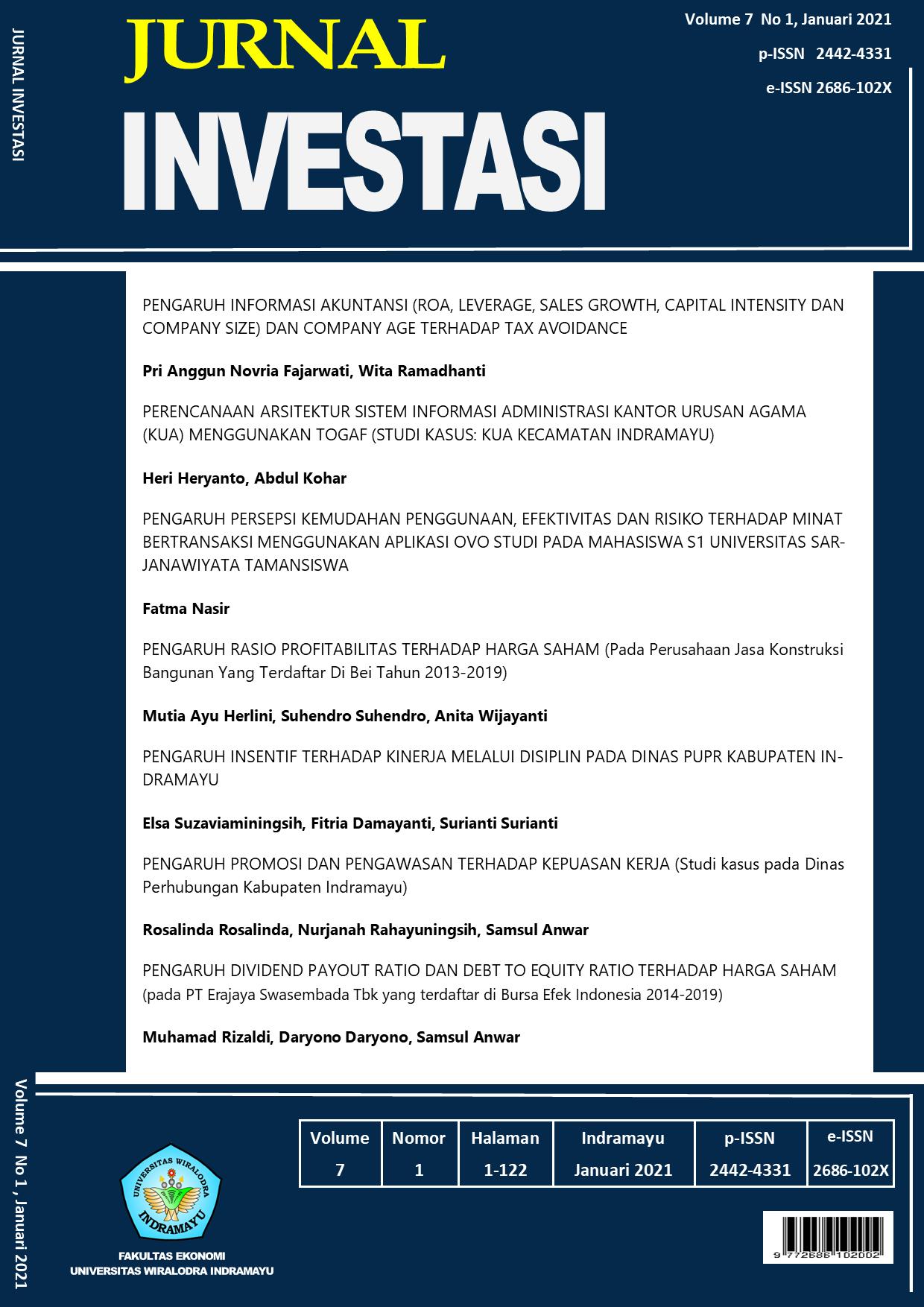 View Vol. 7 No. 1 (2021): Jurnal Investasi Januari 2021
