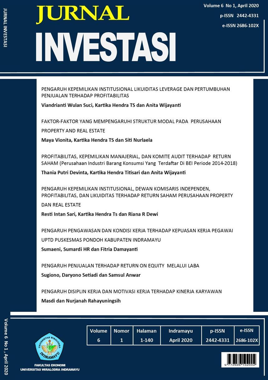View Vol. 6 No. 1 (2020): JURNAL INVESTASI Vol 6 No 1 April 2020